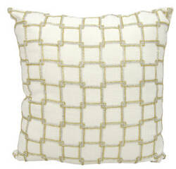 Nourison Luminescence Pillow E0171 White