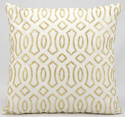 Kathy Ireland Pillows E2930 White Gold