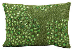 Nourison Pillows Luminescence E5000 Apple Green