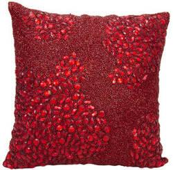 Nourison Luminescence Pillow E5000 Scarlet