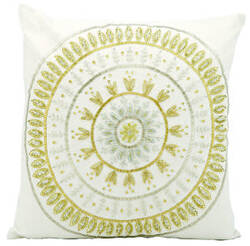Michael Amini Pillows E5298 Ivory Gold