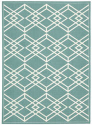 Nourison Enhance En002 Turquoise Area Rug