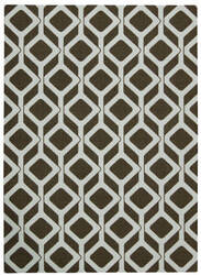Nourison Enhance En003 Chocolate Blue Area Rug