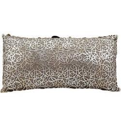 Nourison Mina Victory Pillows Es015 Silver Beige