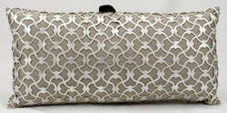 Nourison Pillows Laser Cut Es016 Silver White