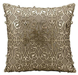 Nourison Mina Victory Pillows Es017 Gold Beige