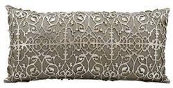Nourison Pillows Laser Cut Es017 Silver Beige