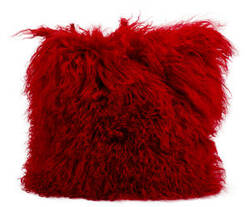 Nourison Pillows Fur F7100 Red