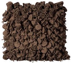 Nourison Mina Victory Pillows Felt Fe102 Chocolate