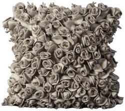 Nourison Mina Victory Pillows Felt Fe102 Silver