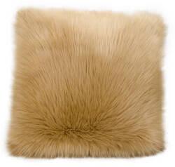 Nourison Fur Pillow Fl101 Beige