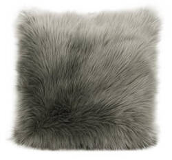 Nourison Fur Pillow Fl101 Silver Grey