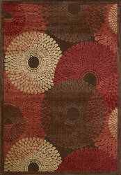 Nourison Graphic Illusions Gil-04 Brown Area Rug