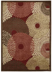 Nourison Graphic Illusions Gil04 Red Area Rug