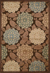 Nourison Graphic Illusions GIL-13 Brown Area Rug