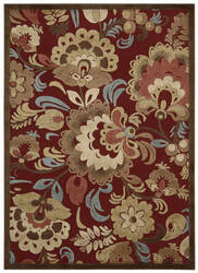 Nourison Graphic Illusions Gil23 Red Area Rug