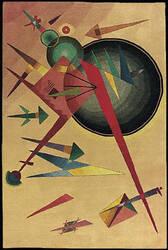 Nourison Guggenheim Modern Art GM-04 Peach Area Rug