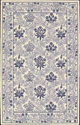 Nourison Country Heritage H-664 Ivory Blue Area Rug