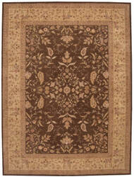 Nourison Heritage Hall He05 Brown Area Rug