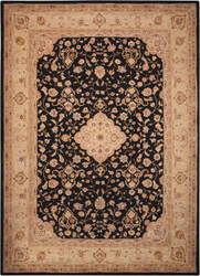 Nourison Heritage Hall He10 Black Area Rug
