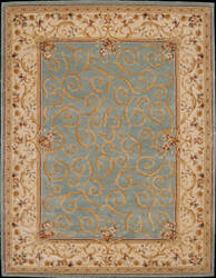 Nourison Heritage Savonnerie HS-03 Turquoise Area Rug