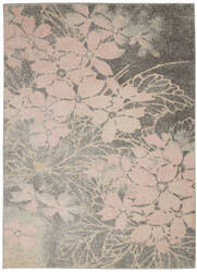Nourison Tranquil Tra08 Grey - Pink Area Rug