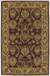 Nourison India House IH-01 Burgundy Area Rug