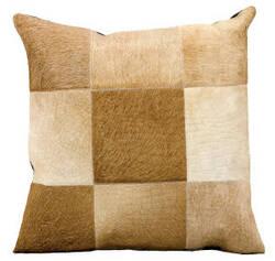 Nourison Pillows Natural Leather Hide Jh262 Beige