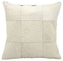 Nourison Pillows Natural Leather Hide Jh262 White