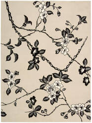 Nourison Modern Elegance LH-08 Black-Ivory Area Rug
