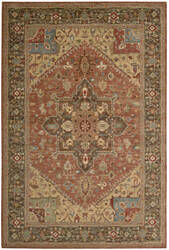 Nourison Living Treasures LI-01 Rust Area Rug