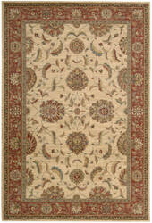 Nourison Living Treasures LI-04 Ivory-Red Area Rug