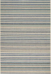 Nourison Lido Lid01 Blue - Cream Area Rug
