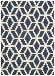 Nourison Linear Lin01 Blue - Ivory Area Rug