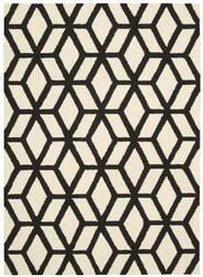 Nourison Linear Lin01 Ivory - Black Area Rug