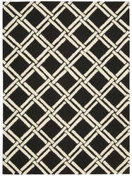 Nourison Linear Lin04 Black - White Area Rug