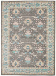 Nourison Tranquil Tra10 Grey - Pink Area Rug