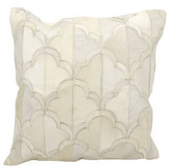 Nourison Natural Leather And Hide Pillow M1237 White