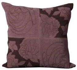 Nourison Pillows Cowhyde M4112 Violet