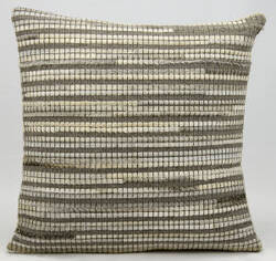 Nourison Pillows Natural Leather Hide M686 Grey