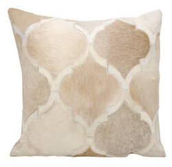 Nourison Natural Leather And Hide Pillow M879 Beige