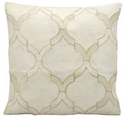 Nourison Pillows Natural Leather Hide M879 White