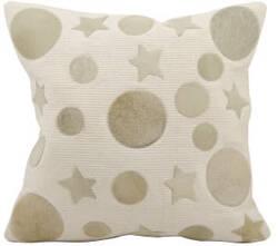Nourison Pillows Natural Leather Hide M917 Beige