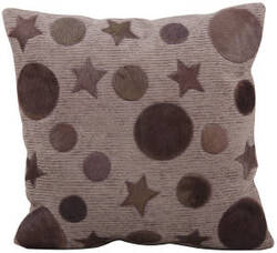 Nourison Pillows Natural Leather Hide M917 Lilac