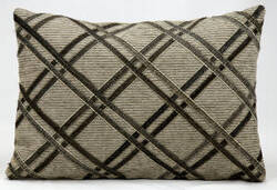 Nourison Pillows Natural Leather Hide M918 Dark Grey