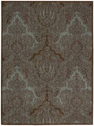 Joseph Abboud Majestic Maj01 Teal Chocolate Area Rug