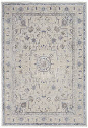 Nourison Silky Textures Sly08 Ivory - Grey Area Rug