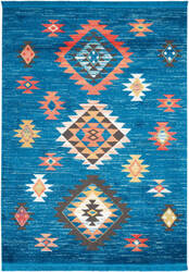 Nourison Tribal Decor Trl07 Blue Area Rug