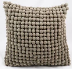 Nourison Pillows Pom Pom36 Grey