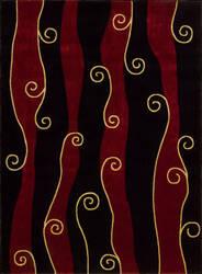 Nourison Parallels PR-19 Black Area Rug